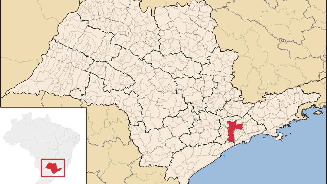 mapa estado de são paulo